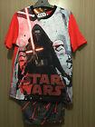 BNWT Boys Sz 8 Licenced Star Wars Print Red/Grey Short Summer PJ Pyjamas Set