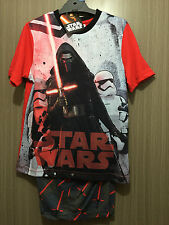 BNWT Boys Sz 10 Licenced Star Wars Print Red/Grey Short Summer PJ Pyjamas Set
