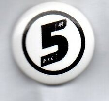 FIVE - BUTTON BADGE - 90s POP BAND  5IVE -  SLAM DUNK DA FUNK - INVINCIBLE 25mm