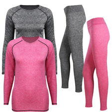 Womens Winter Ultra-Soft Lined Base Layer Thermal Underwear Top & Bottom Set