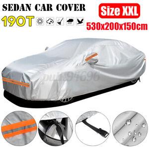 Car Cover Waterproof Sun Snow Dust Rain Resistant Protection XXL Size For Sedan