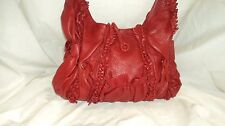 Scully 729 Red Lambskin Leather Western Shoulder Handbag