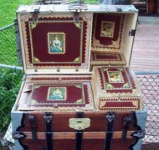 New listing 1870's Antique Barrel top traveling trunk