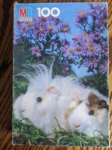 Guinea Pigs 108 piece cardboard vintage puzzle by Milton Bradley, ages 5-10