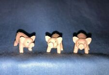 "Vintage Dollhouse Craft Miniatures Rubber Vinyl Pigs Set Of 3 1"""