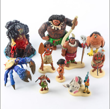 DISNEY AUTHENTIC MOANA MOVIE TOY PLAY SET ALL 10 FIGURES !