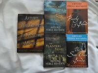 FIVE (5) ARTURO PEREZ-REVERTE books: 4 trade paperbacks and 1 hardback - signed