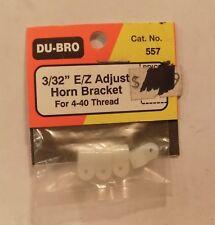 """2 of Du-Bro 557 3/32"""" E/Z Adjust Horn Bracket for 4-40 Thread NIP"""