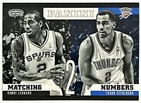 2012-13 Panini Kawhi Leonard RC Matching Numbers Spurs Raptors Clippers #11