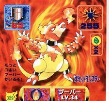 POKEMON STICKER Carte JAPANESE 50X50 1997 NORM@L N° 329 MAGMAR