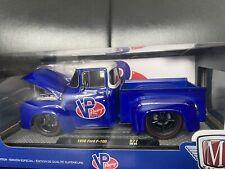 1956 Ford F-100 Pickup Truck M2 Machines 1:24 Blue