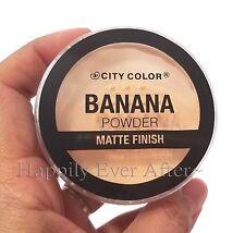 City Color Banana Powder-Matte Finish Set Makeup, Help Define Contour & Brighten