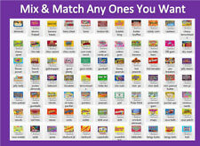 10 PRODUCT VENDING MACHINE CANDY STICKERS LABEL  with NUTRITION Free Shipping