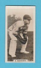 CRICKET - BOYS MAGAZINE - RARE CRICKET CARD  NO. 4 -  DUCKWORTH OF LANCS -  1928