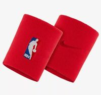 Nike NBA Elite Basketball Wristbands Dri-Fit 2 Pack, Red, Unisex, One Size, 007