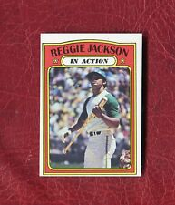 1972 TOPPS #436 REGGIE JACKSON (HOF) A'S IN ACTION MINT / GEM MINT PACK FRESH
