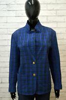 BURBERRYS 50 Giacca Blazer Blu Donna Cappotto Primaverile Cotone Jacket Woman