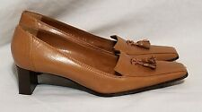 SERGIO ROSSI Brown  Pointed Toe Square Pumps Heels Shoes 36 US 6