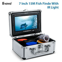 "7"" 15M Underwater Fishing Camera Fish Finder IR Video Monitor For Lake Sea Boat"