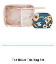 New Ted Baker Trio Travel Wash Bag Pouch Set for Cosmetic, Makeup Bag - RRP £22
