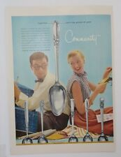 Original Print Ad 1955 COMMUNITY SILVERPLATE White Orchid