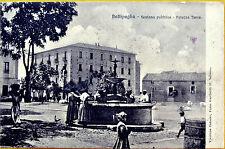 BATTIPAGLIA fontana pubblica, piazza Turco viaggiata 1910 circa, Salerno