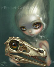 Resurrected Velociraptor Jasmine Becket-Griffith CANVAS PRINT big eyes dark art
