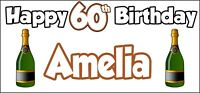 Champagne Bottle 85th Birthday Banner x 2 Party Decorations Mens Womens Adult