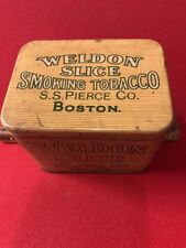 WELDON SLICE OLD TOBACCO TIN