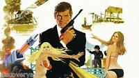 James Bond The Man with the Golden Gun Movie Poster Canvas Print Art Roger Moore