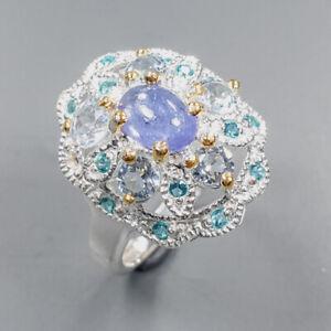 Fine Art jewelry Tanzanite Ring Silver 925 Sterling  Size 7 /APBJ-R0167