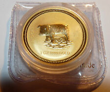 Australien Lunar 1 -- Schwein 2007 pig -- 1 Oz gold -- ovp Goldmünze Australia