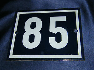 Enamel No. 85 12x10cm Email House Sign Number Plot Allotment Garden