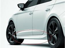GENUINE SEAT LEON 5F 5 DOOR REAR ACCESSORY CANDY WHITE PAINTED SIDE SKIRTS SET