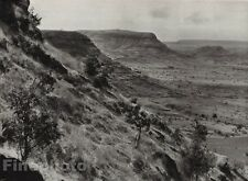 1928 Original INDIA Aurangabad Basalt Deccan Trap Landscape Photo By HURLIMANN