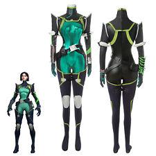 Valorant Viper Cosplay Costume Agent Combat Bodysuit Fancy Dress Full Suit Set