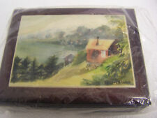 very pretty mohogany keepsake box withtiled top signed by t.f.loeb 2006 new