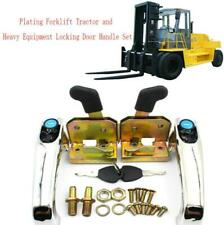 Plating Universal Forklift Tractor and Heavy Equipment Locking Door Handle Set