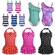 Kids Girls One-piece Swimsuit Bikini Swimwear Bathing Suit Surfing Swimming Wear