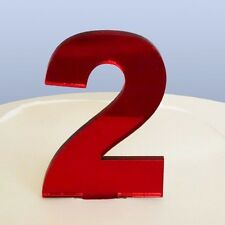 contemporain numéro 2 gâteau décoration - copié Rouge
