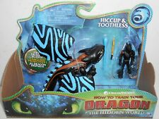 New HTF DreamWorks Spin Master The Hidden World HICCUP & TOOTHLESS Painted Wings