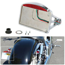 CHROME MOTORCYCLE SIDE MOUNT LICENSE PLATE BRACKET TAIL LIGHT FOR CHOPPER US