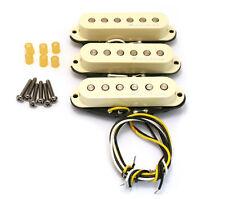 Genuine Fender Hot Noiseless Stratocaster/Strat Pickup Set Aged Wht 099-2105-000
