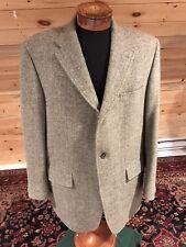 J. PRESS HARRIS Dove Grey Wool Tweed 3 Button Blazer Coat Vtg Men's 46L
