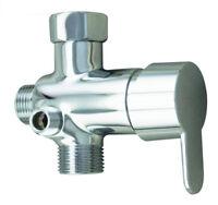 Bathroom Toilet 3-way T-Connector Hot/Cold Mixer Valve Brass For HandHeld Bidet