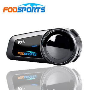 FX6 1000M Motorcycle Intercom Headset Helmet Interphone 6 Riders Group Talk A2DP