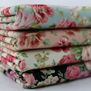Rococo Roses 100% Cotton Canvas Soft Furnishing Japanese Fabric