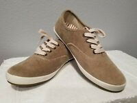 NEW Taos Women's Guest Star Corduroy Sneakers Khaki Lace Up GST-13547 NWT