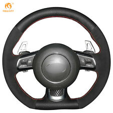 Genuine Leather Suede Steering Wheel Cover Wrap for Audi TT 2008-2013 #BA44