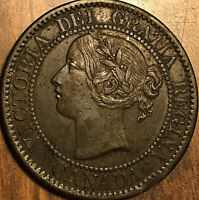 1859 CANADA LARGE CENT PENNY 1 CENT COIN - Excellent example!